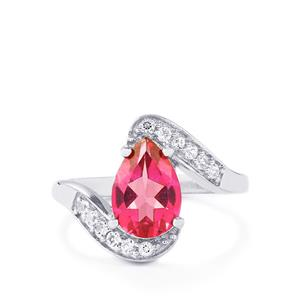 2.34ct Mystic Pink & White Topaz Sterling Silver Ring
