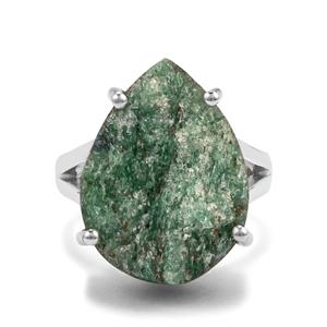14ct Fuchsite Drusy Sterling Silver Aryonna Ring