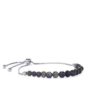 Bengal Iolite Silver Bead Bracelet in Sterling Silver 9.50cts