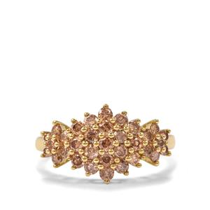 1ct Champagne Diamond 10K Gold Tomas Rae Ring