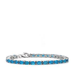 6.85ct Neon Apatite Sterling Silver Bracelet