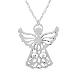 """18"""" Sterling Silver Altro Angel Necklace 4.48g"""