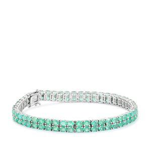 14.09ct Zambian Emerald Sterling Silver Bracelet