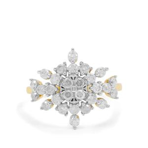 1ct GH Diamond 9K Gold Ring