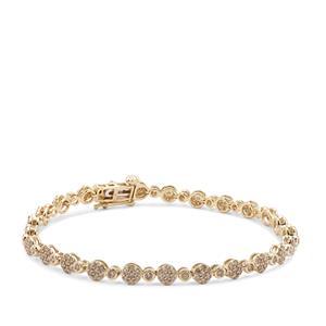 2ct Argyle Diamond 9K Gold Bracelet