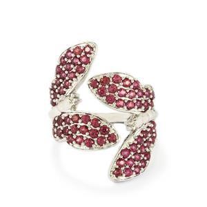2.26ct Rhodolite Garnet Sterling Silver Ring