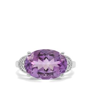 4.83ct Moroccan Amethyst Sterling Silver Ring