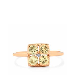 1.14ct Ceylon Zircon 9K Rose Gold Ring