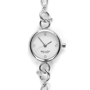Diamond Stainless Steel Watch with Milano Bracelet