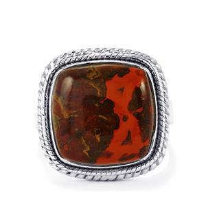 11ct Sonoreña Seam Agate Sterling Silver Aryonna Ring