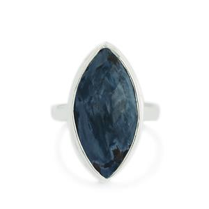 11.00ct Pietersite Sterling Silver Aryonna Ring