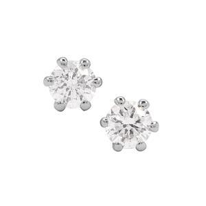 Diamond Earrings in Platinum 950 0.10ct