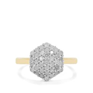 3/4ct Diamond 9K Gold Ring