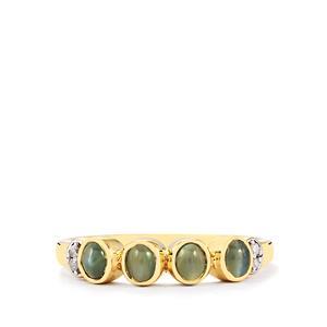 Cats Eye Alexandrite & Diamond 10K Gold Ring ATGW 0.86cts