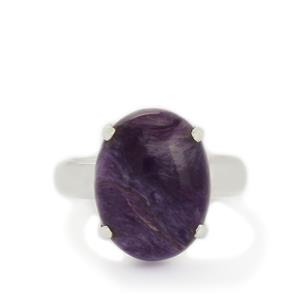 9.24ct Charoite Sterling Silver Aryonna Ring