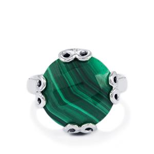 Malachite Ring in Sterling Silver 11.15cts