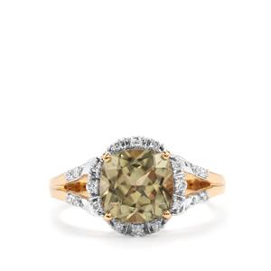 Csarite® Ring with Diamond in 18K Gold 2.55cts