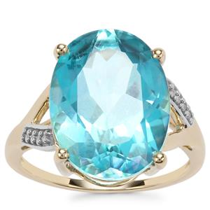 Batalha Topaz Ring with White Zircon in 10k Gold 10.61cts