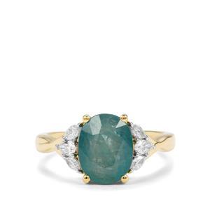 Grandidierite & Diamond 18K Gold Tomas Rae Ring MTGW 2.81cts