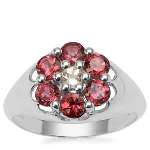 Rajasthan Garnet Ring with Serenite in Sterling Silver 1.40cts