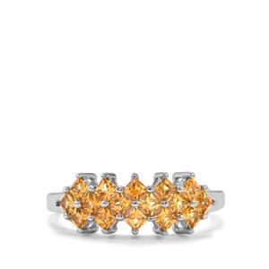 0.71ct Golden Tourmaline Sterling Silver Ring