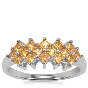Golden Tourmaline Ring in Sterling Silver 0.71cts