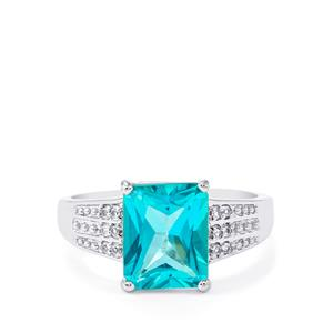 Batalha Topaz Ring with White Topaz in Sterling Silver 3.86cts