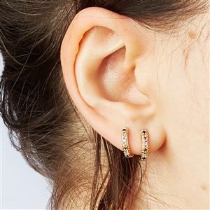 Kaleidoscope Gemstone Earrings in 9k Gold 0.25ct