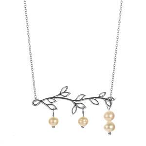 Kaori Cultured Pearl Necklace in Sterling Silver