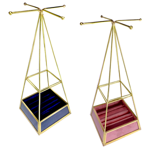 Pyramid Jewellery Stand / Tree - Available in Blue =01 /   Pink=02