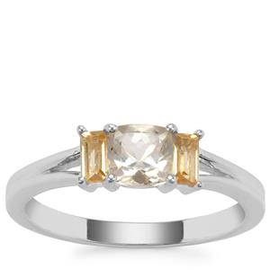 Serenite Ring with Diamantina Citrine in Sterling Silver 0.80ct
