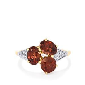 Zanzibar Zircon & Diamond 18K Gold Tomas Rae Ring MTGW 3.86cts