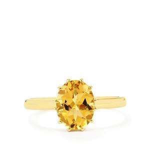 1.58ct Xia Heliodor 9K Gold Ring