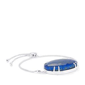 Sar-i-Sang Lapis Lazuli Silder Bracelet in Sterling Silver 47.68cts