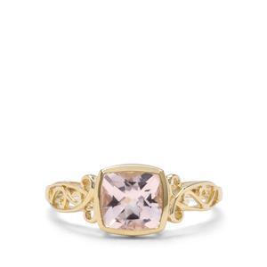 1.30ct Alto Ligonha Morganite 9K Gold Ring