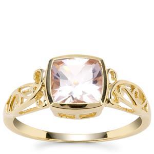 Alto Ligonha Morganite Ring in 9K Gold 1.30cts