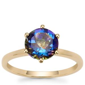 Mystic Blue Topaz Ring in 9K Gold 2.25cts