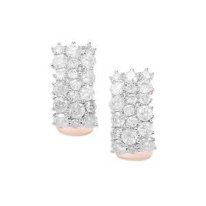 Diamond Earrings in 9K Rose Gold 1.95cts