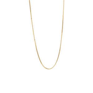 """16/18"""" 9K Gold Classico Diamond Cut Curb Chain 0.80g"""
