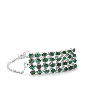 Itabira Emerald Bracelet in Sterling Silver 6.89ctsq