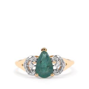 Grandidierite & Diamond 18K Gold Tomas Rae Ring MTGW 1.33cts