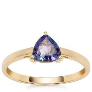 AA Tanzanite Ring in 10K Gold 0.74ct