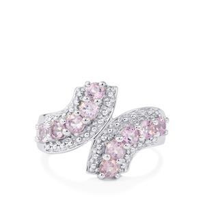 0.97ct Rose De France Amethyst Sterling Silver Ring