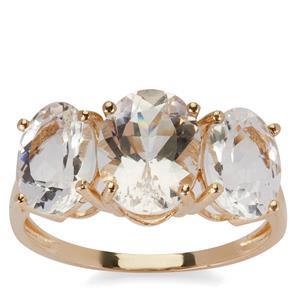 4.15ct Danburite 9K Gold Ring