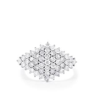 Diamond Ring in 9K White Gold 1.50ct