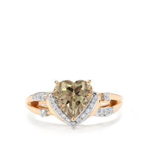 Csarite® & Diamond 18K Gold Ring MTGW 2.11cts