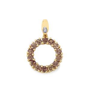 Bekily Colour Change Garnet & Diamond 10K Gold Pendant ATGW 2.05cts