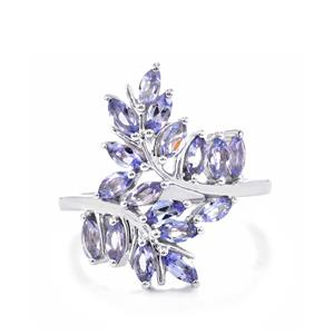 1.45ct Tanzanite Sterling Silver Ring