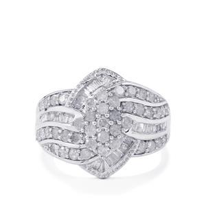 1.20ct Diamond 10K White Gold Tomas Rae Ring