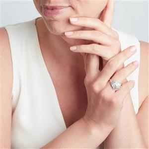 Diamond Ring  in 10k White Gold 1.20ct